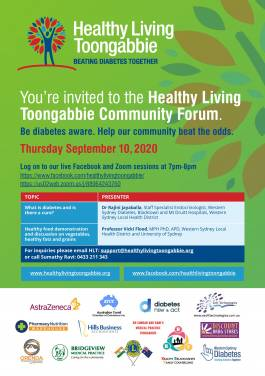 Healthy Living Toongabbie Community Forum - You are invited